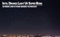 Drones Light the Super Bowl