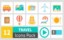 Animated Travel Icons Sample Video