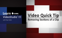 Learn Corel: Removing Sections of a Clip