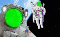 Astronaut Spacewalk Green Visor