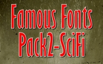 Famous Fonts Pack 2- SciFi
