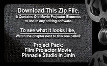 Create Old Time Projector Movie in Any Software