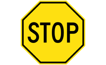 Yellow Stop Sign.svg