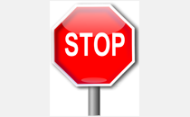 Glossy Stop Sign Full Page