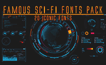 20 Famous SciFi Fonts Pack