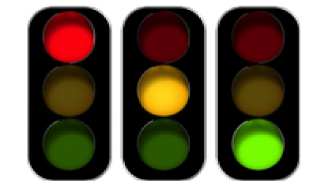Red Orange Green Traffic Lights