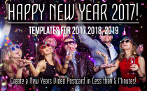 Template: New Years Postcard in 5 Minutes!