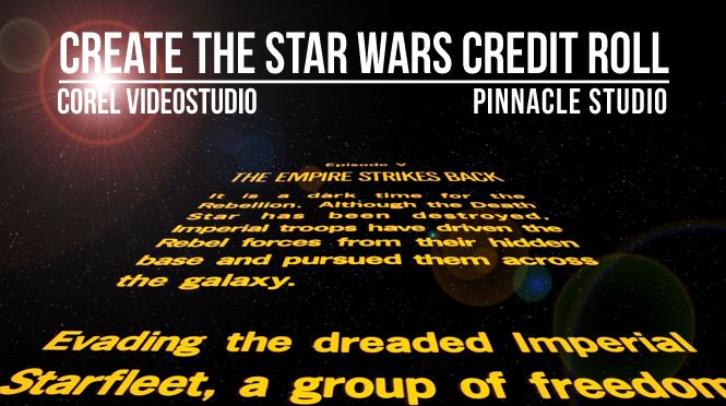 Create a Star wars Credit Roll