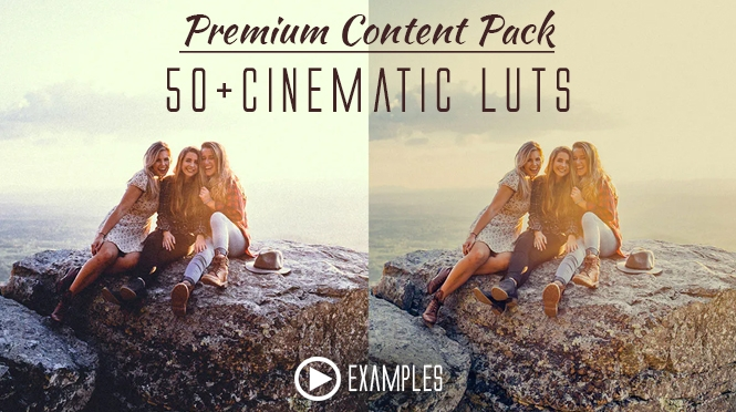 Premium Content Pack 50+Cinematic LUTs for Paid Members!
