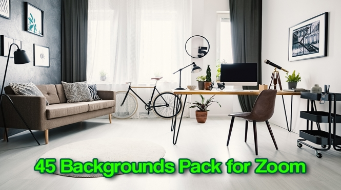 45 Zoom Virtual Backgrounds Pack