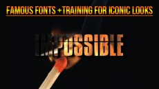 Iconic Fonts and Training