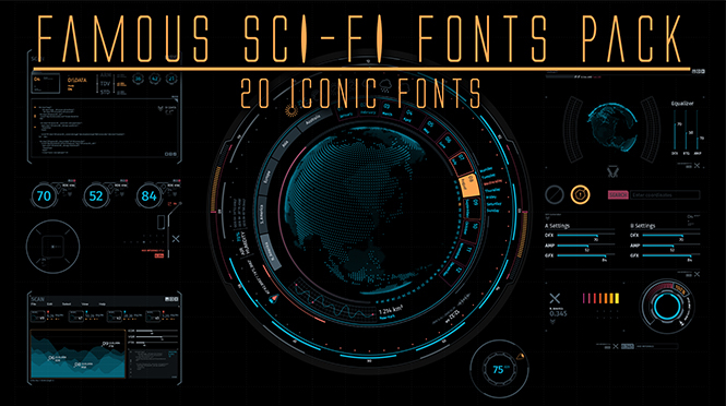 Famous Sci-Fi Font Pack