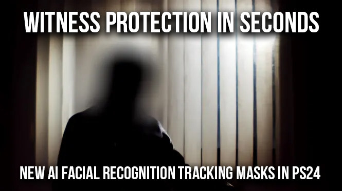Facial Recognition Tracking Masks for Witness protection and other Effects