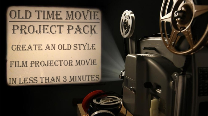Project Pack:Film Projector Movie Pinnacle Studio in 3min
