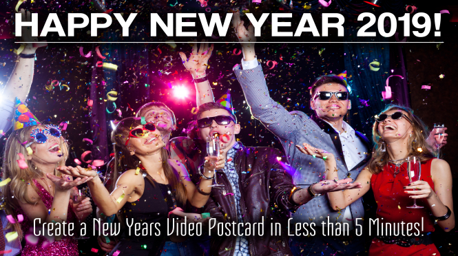 Create a New Years Video Postcard