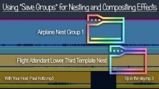 "Using ""Save Groups"" of Clips for Nesting and Compositing Effects"